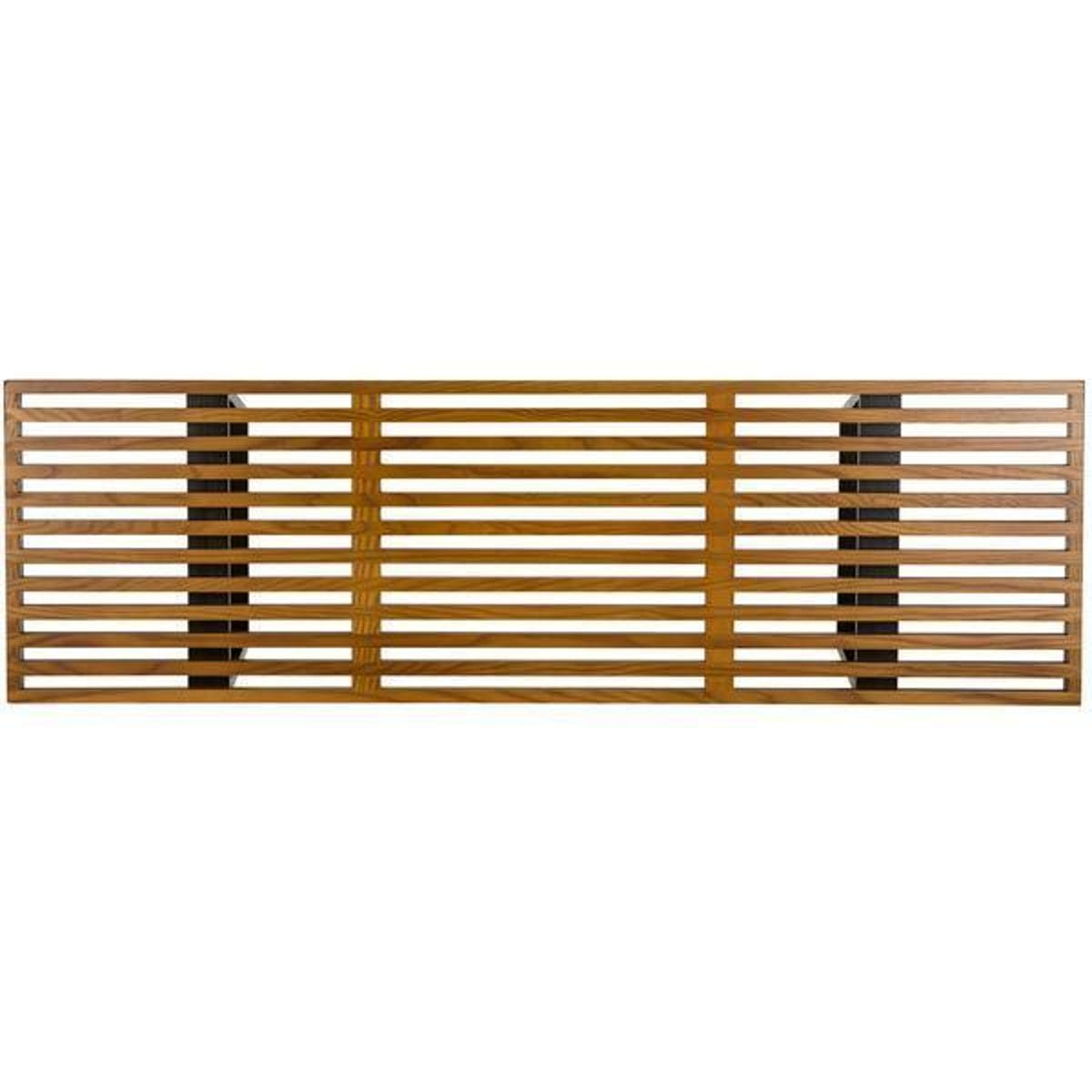 Wood slat clipart clip art transparent stock EdgeMod Slat 5\' Bench In Dark Walnut clip art transparent stock