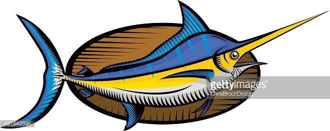 Woodcut fish clipart png transparent download Woodcut Blue Marlin Fish premium clipart - ClipartLogo.com png transparent download