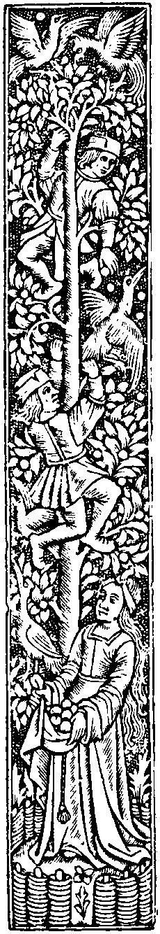 Woodcuts clipart banner freeuse stock Medieval Woodcuts Clipart Collection 51. Apple Harvest ... banner freeuse stock