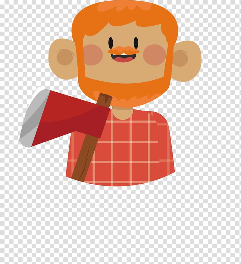 Woodcutter clipart png vector library download Bearded woodcutter transparent background PNG clipart ... vector library download