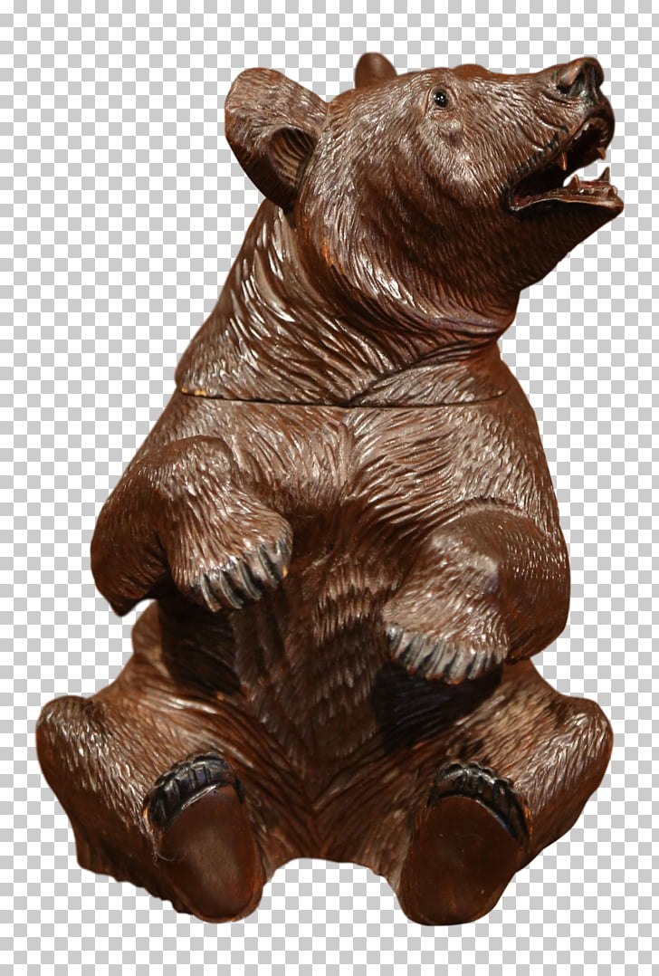 Wooden carved bear clipart free download Wood carving Sculpture Bear Art, carved exquisite PNG ... free download