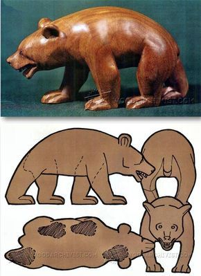 Wooden carved bear clipart png royalty free library Carving Bear - Wood Carving Patterns and Techniques ... png royalty free library