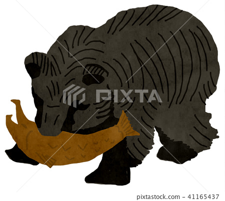 Wooden carved bear clipart png freeuse stock Wood carving bear - Stock Illustration [41165437] - PIXTA png freeuse stock