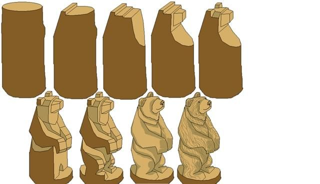 Wooden carved bear clipart vector library Pin by Marta B. on crafty stuff | Wood carving for beginners ... vector library