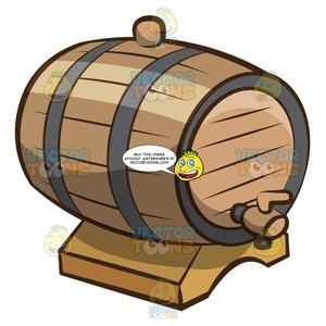 Wooden barrel top clipart picture black and white library A Wooden Barrel For Wine Storage picture black and white library