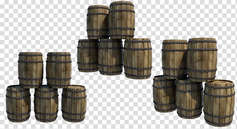 Wooden barrel top clipart transparent download Wooden Barrels , brown wine barrel lot illustration ... transparent download