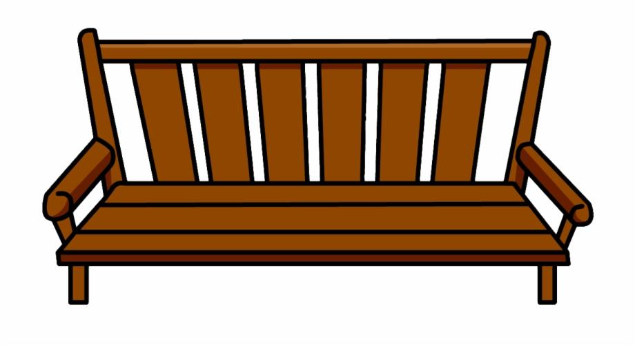 Wooden bench clipart