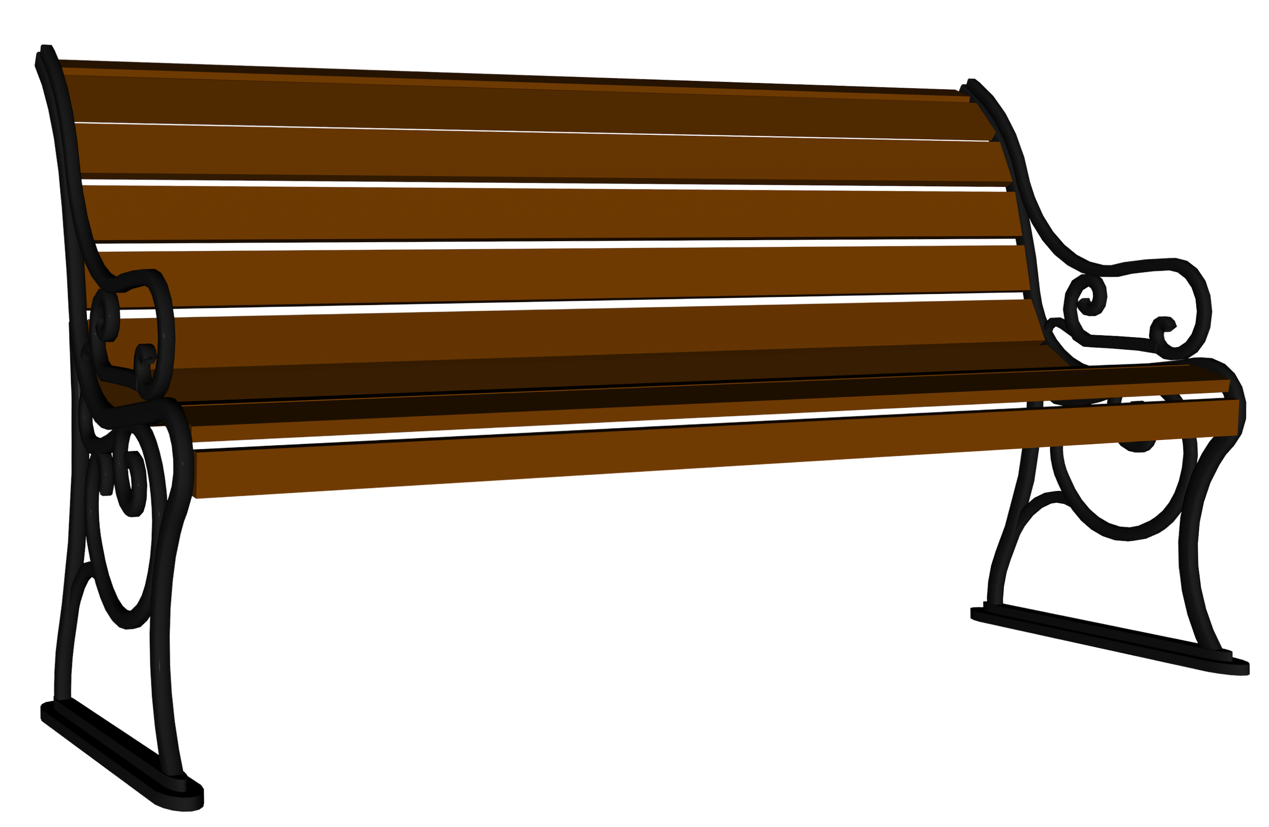 Wooden bench clipart clipart freeuse library Wooden Bench PNG Image | Gallery Yopriceville - High ... clipart freeuse library