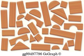 Wooden blocks clipart picture library stock Wooden Blocks Clip Art - Royalty Free - GoGraph picture library stock