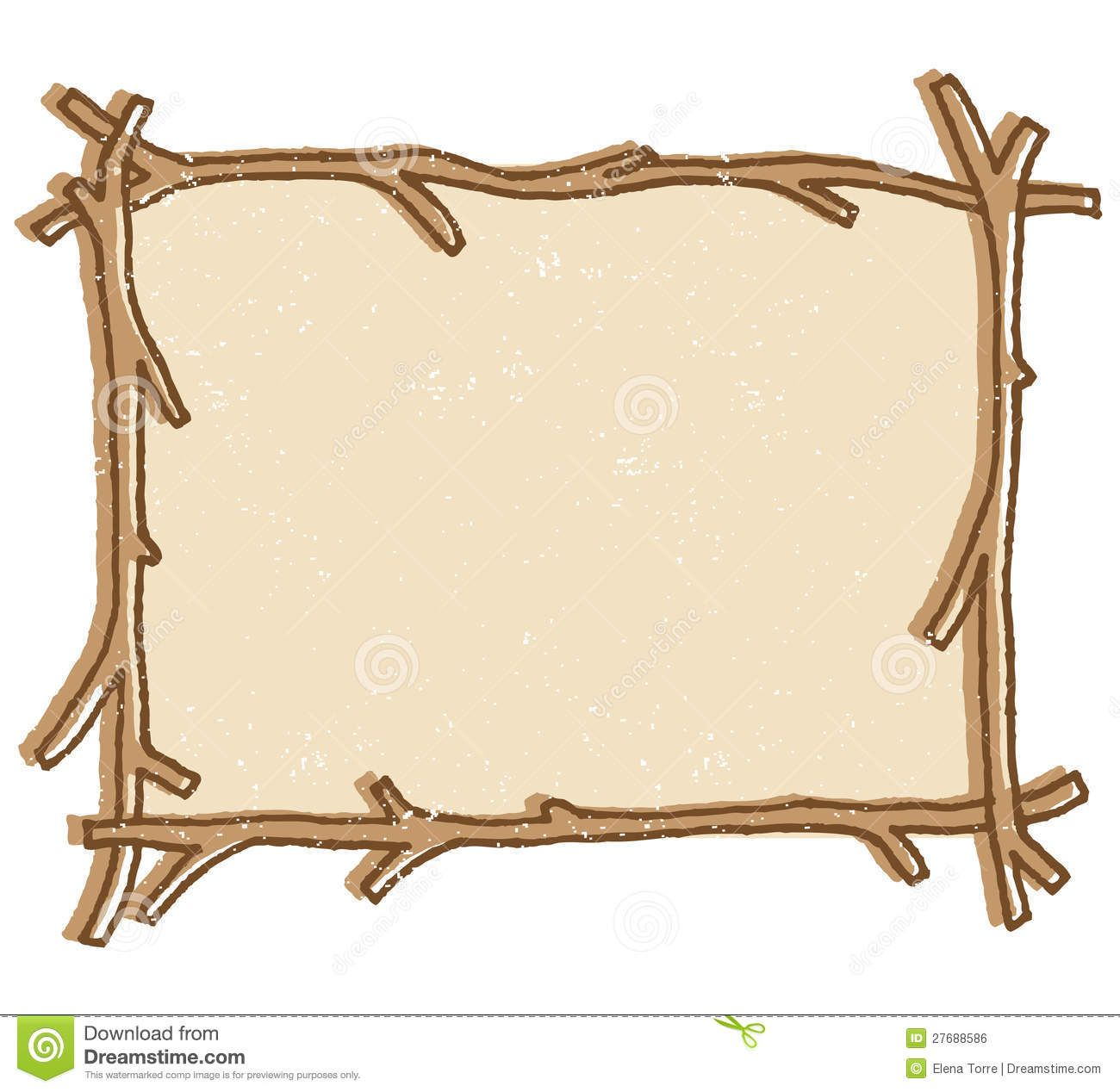 Wooden border clipart free graphic free download free twig or branch borders clipart | Illustration of a twig ... graphic free download