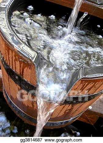 Wooden bucket pouring water clipart clip art royalty free stock Stock Photography - Water bucket. Stock Image gg3814687 ... clip art royalty free stock
