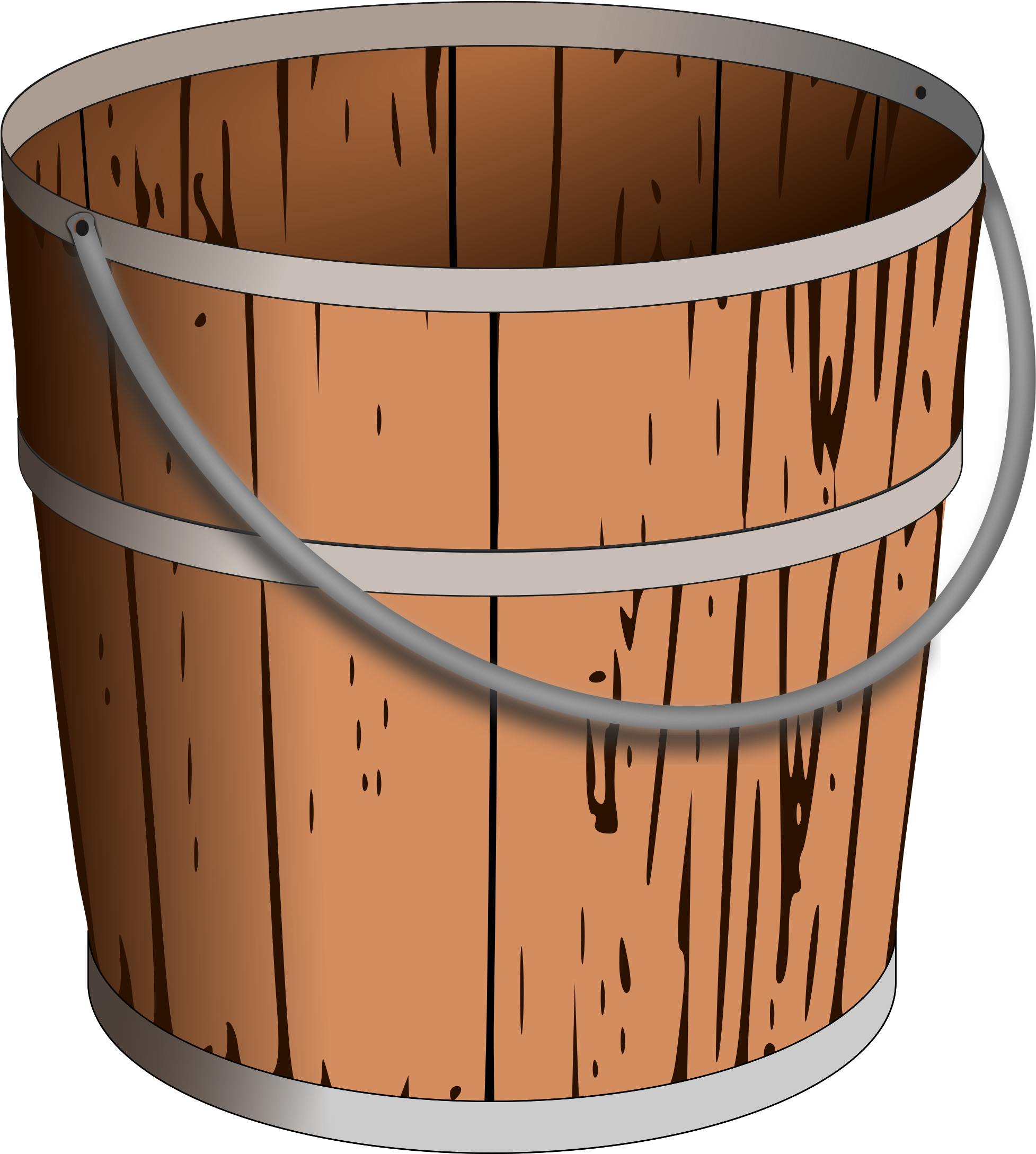 Wooden bucket pouring water clipart clip transparent library HD Bucket Drawing Wooden - Wood Bucket Clip Art , Free ... clip transparent library