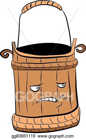Wooden bucket with water clipart clip royalty free stock EPS Illustration - Wooden bucket for a sauna and water ... clip royalty free stock