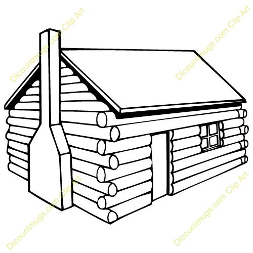 Log cabin images clipart picture transparent stock Log Cabin Clip Art | Happy Log Cabin Day! | Coloring pages ... picture transparent stock