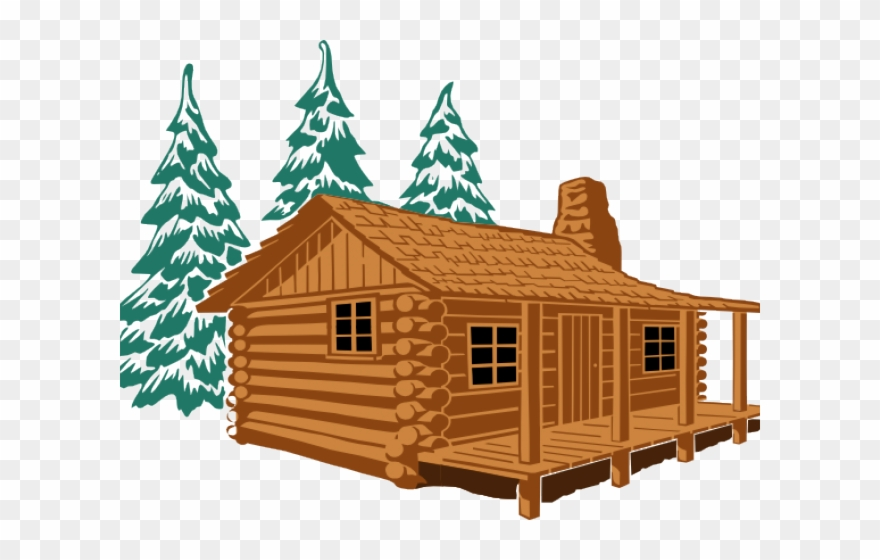 Wooden cabins clipart clipart freeuse library Log Cabin Cartoon Clipart (#3304140) - PinClipart clipart freeuse library