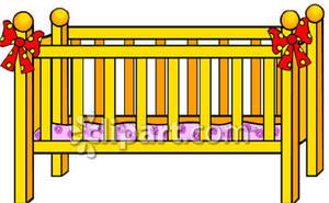 Wooden crib clipart
