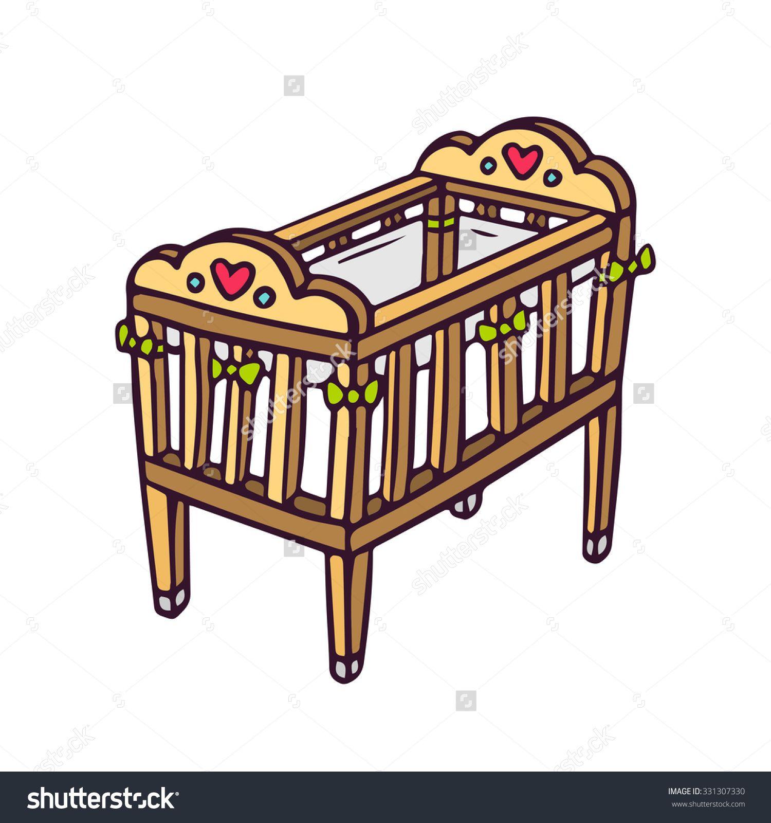 Wooden crib clipart clip art royalty free Clipart Cot - Clip Arts Galleries | crib | Cot, Cribs, Furniture clip art royalty free
