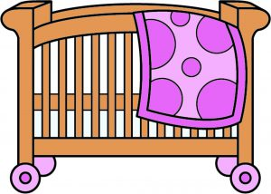Wooden crib clipart svg stock Wooden Portable Baby Cribs | Full-Size & Mini Crib on Wheels svg stock