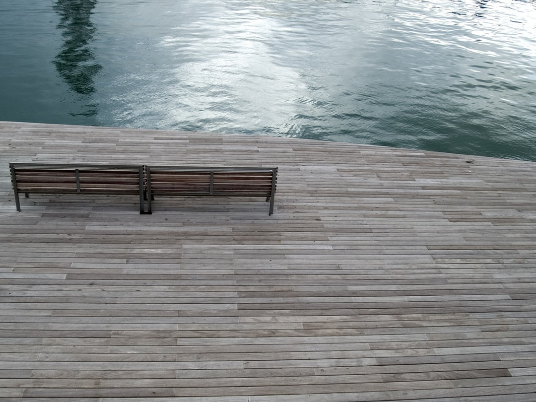 Wooden dock background clipart