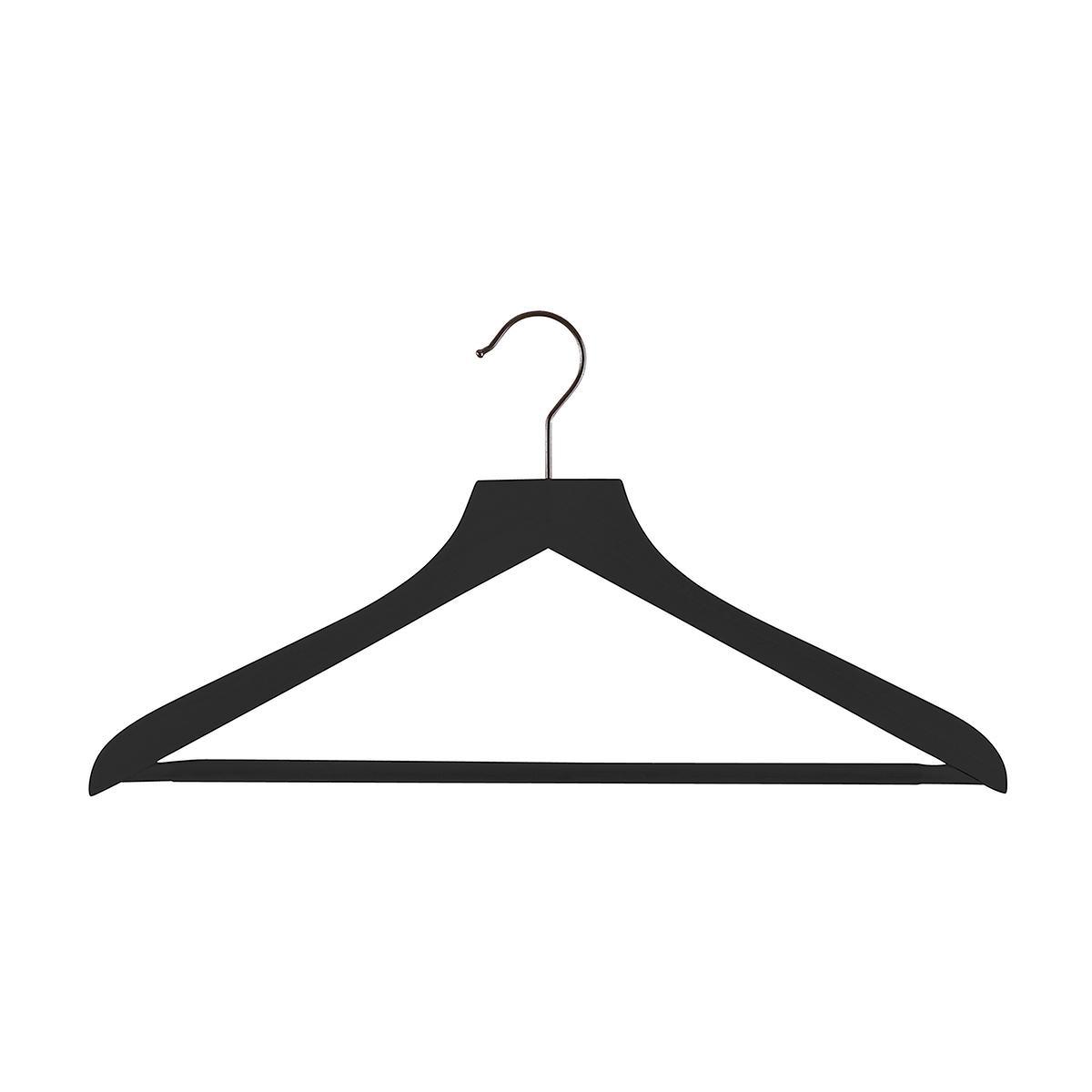 Wooden hanger clipart clip free Petite Black Wooden Hangers Pkg/6 clip free