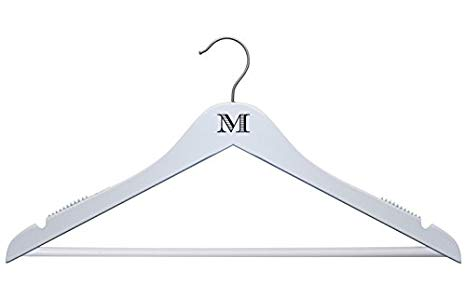 Wooden hanger clipart jpg black and white library Amazon.com: NAHANCO Personalized Wooden Hangers -17 ... jpg black and white library
