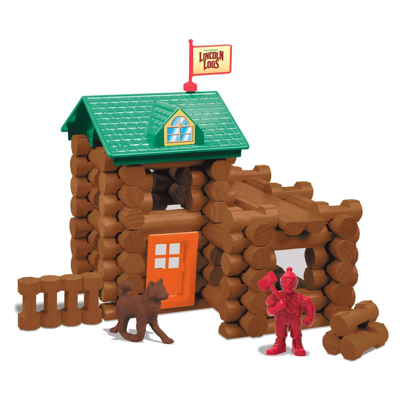 Wooden logs toys clipart jpg freeuse Amazon.com: Lincoln Logs Fort Red Pine 83 pcs: Toys & Games jpg freeuse