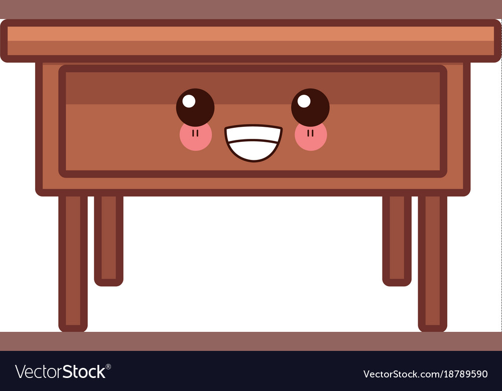 Wooden office desk clipart clip art library download Wooden office desk cute kawaii cartoon clip art library download