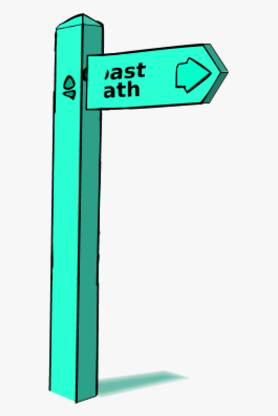 Wooden post clipart picture free library Wooden Sign Post - Footpath Sign Clipart #1071614 - Free ... picture free library