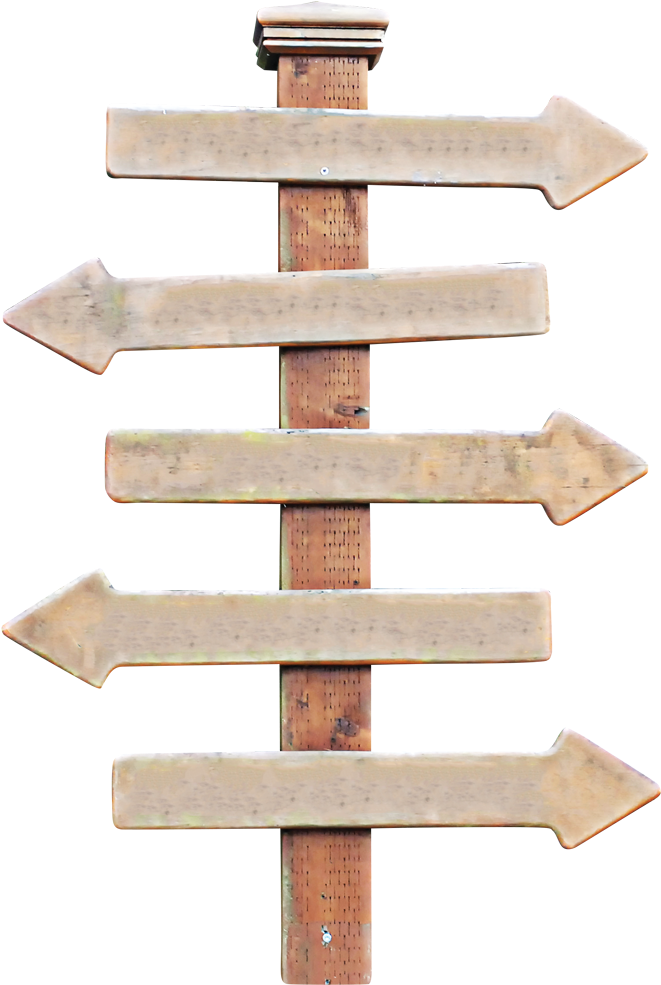 Wooden road sign clipart