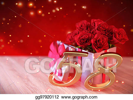 Wooden roses clipart clip art royalty free library Stock Illustrations - Birthday concept with red roses in ... clip art royalty free library