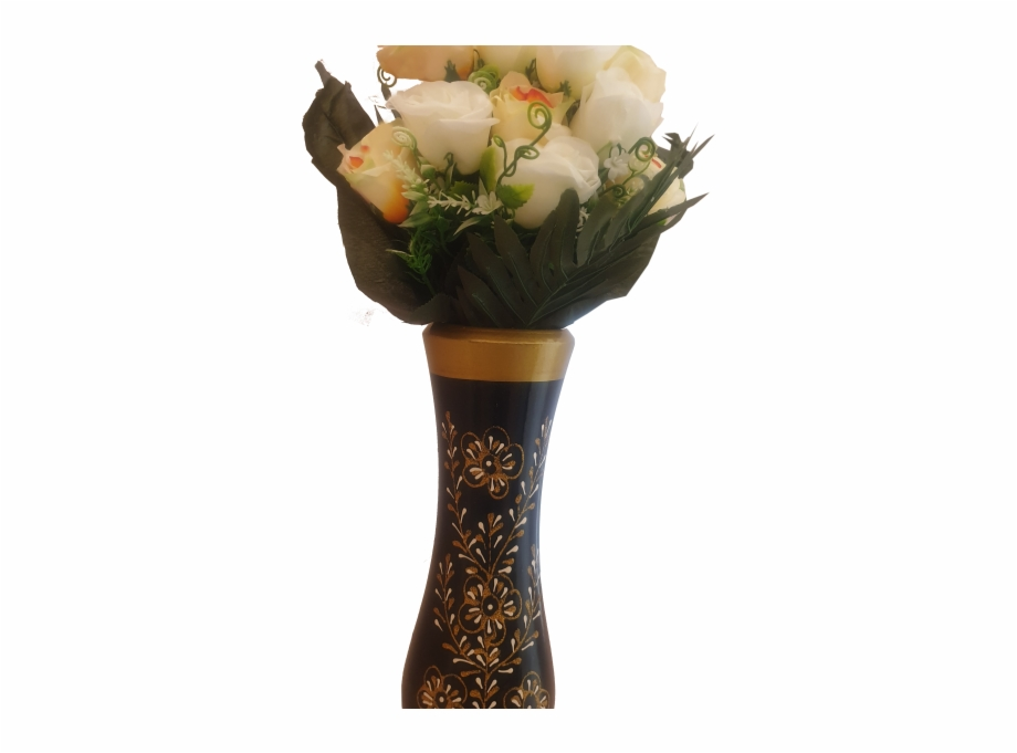 Wooden roses clipart image black and white download Decor Wooden Flower Vase - Garden Roses Free PNG Images ... image black and white download