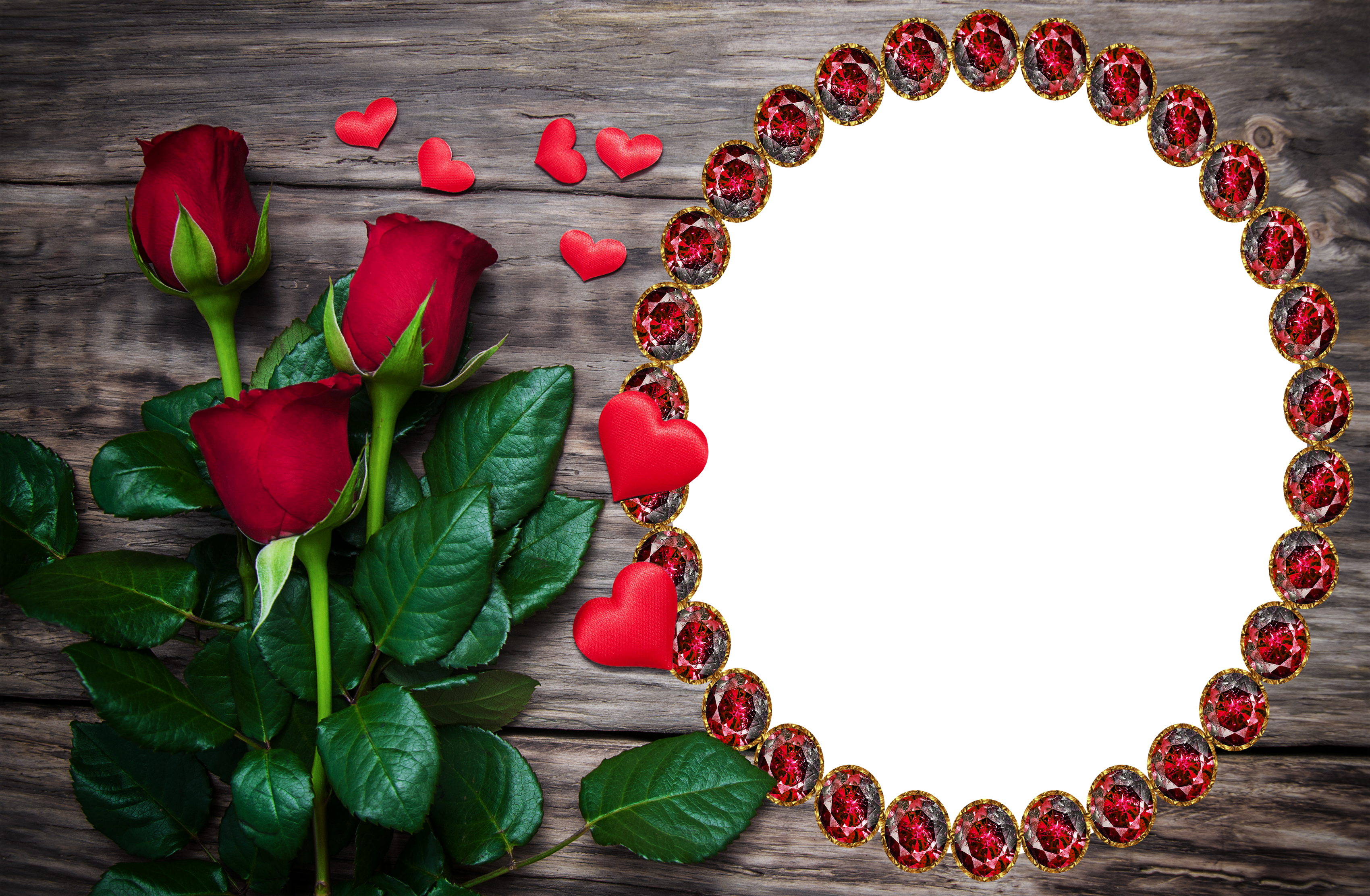 Wooden roses clipart svg freeuse download Transparent Wooden Frame with Red Roses | Gallery ... svg freeuse download