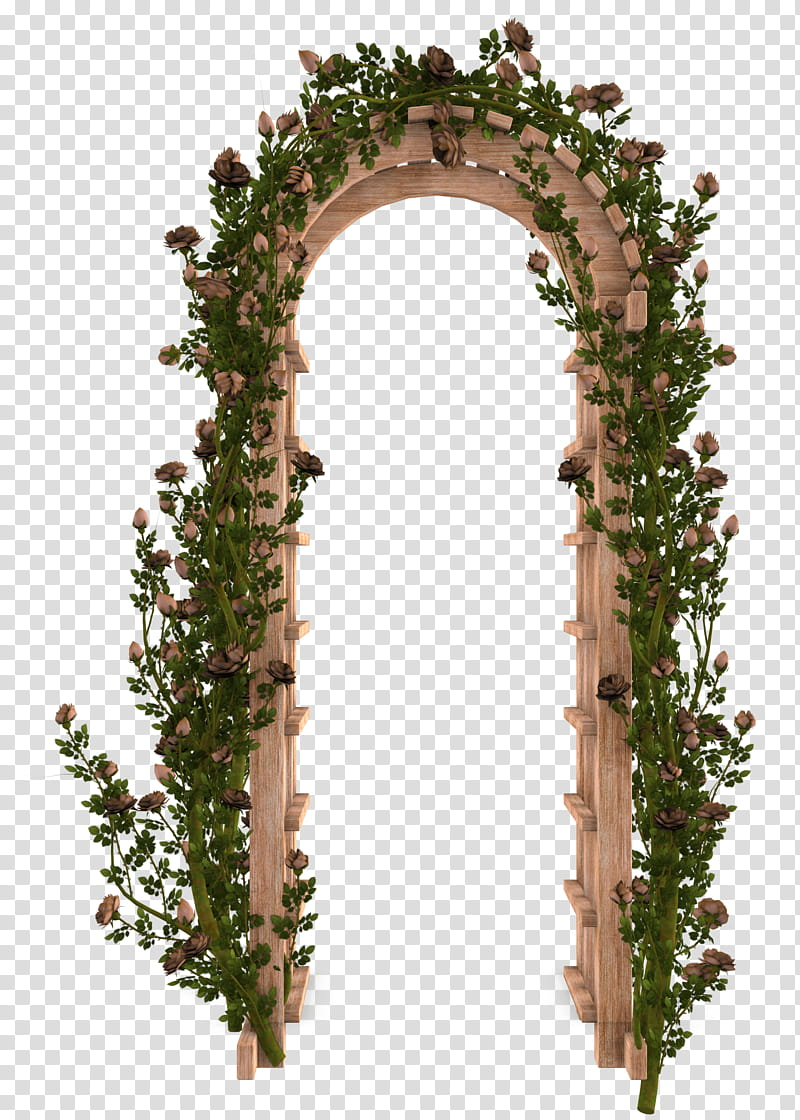 Wooden roses clipart banner library download UNRESTRICTED Garden Rose Arbor, brown and green wooden ... banner library download