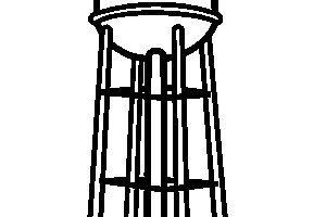Wooden water tower clipart vector transparent stock Water tower clipart 1 » Clipart Portal vector transparent stock
