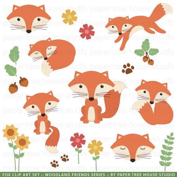 Woodland acorn clipart picture royalty free download Woodland Clip Art. Forest Clipart. Fox Clip Art. Acorn ... picture royalty free download