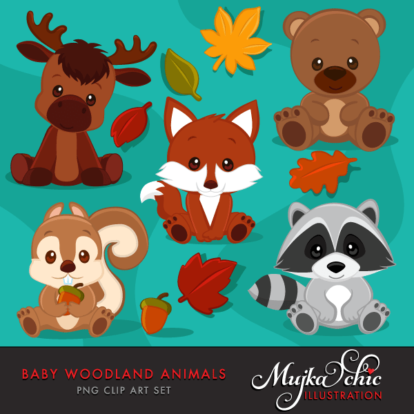 Woodland animal babies clipart graphic library download Baby Woodland Animals Clipart graphic library download