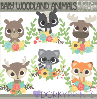 Woodland animal babies clipart banner freeuse Baby Woodland Animals Clipart banner freeuse