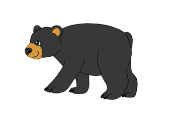 Woodland animal bear clipart banner black and white download 12 woodland animals clip art banner black and white download