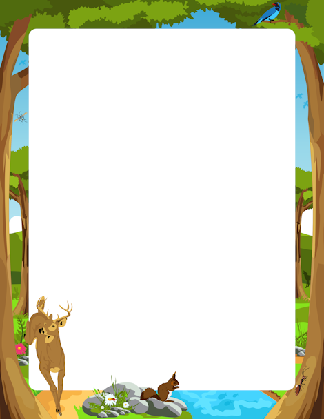 Woodland themed border clipart jpg library library Pin by Muse Printables on Page Borders and Border Clip Art ... jpg library library