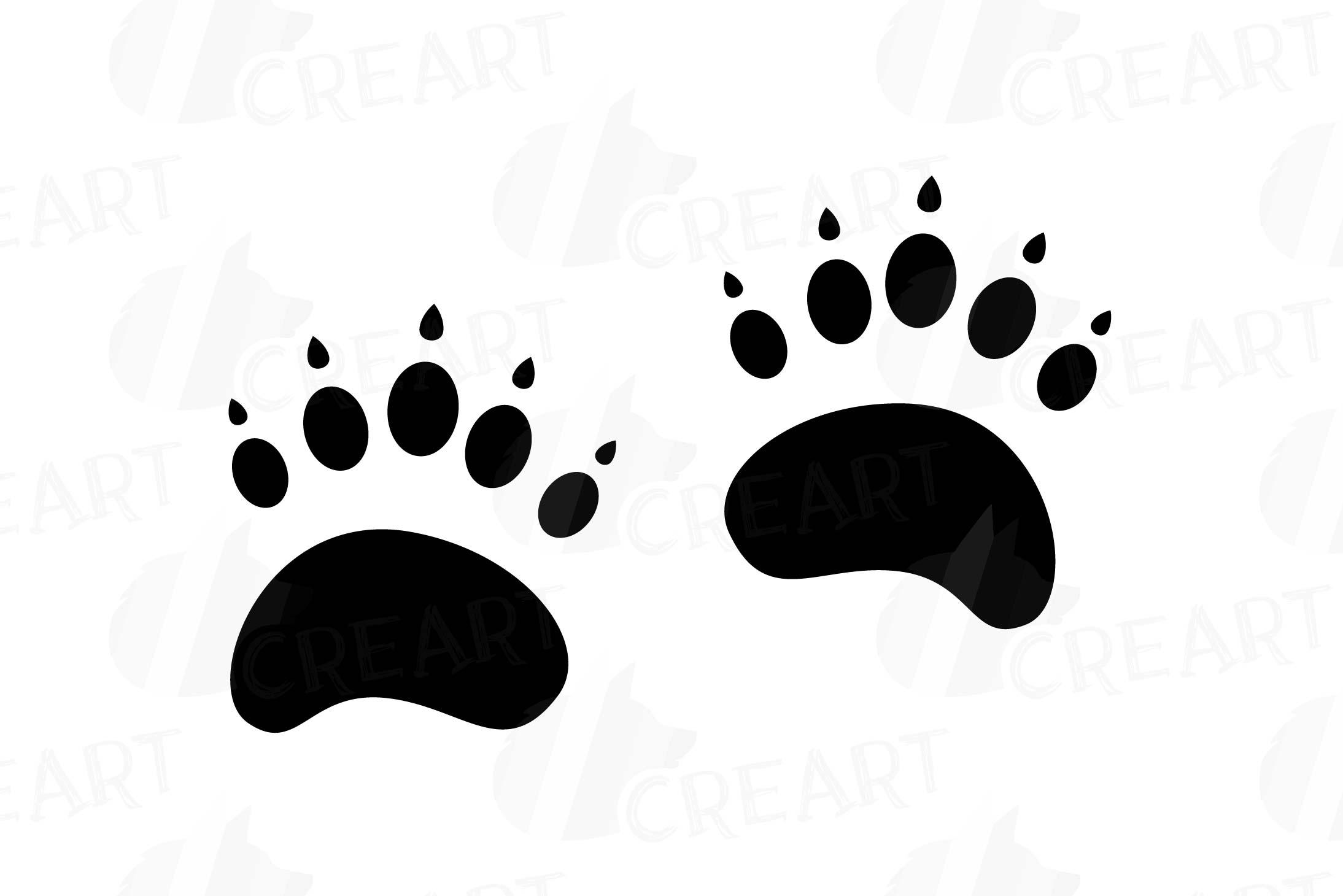 Woodland animal footprint clipart graphic royalty free library Animal Tracks, Woodland Animals footprints Clipart pack graphic royalty free library