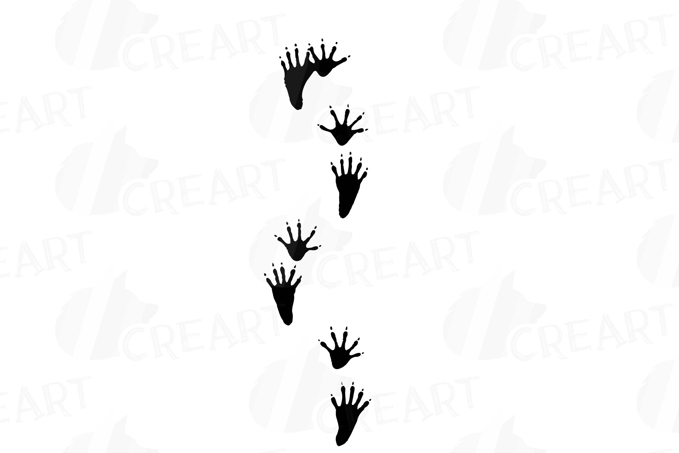 Woodland animal footprint clipart picture free library Animal Tracks, Woodland Animals footprints Clipart pack picture free library