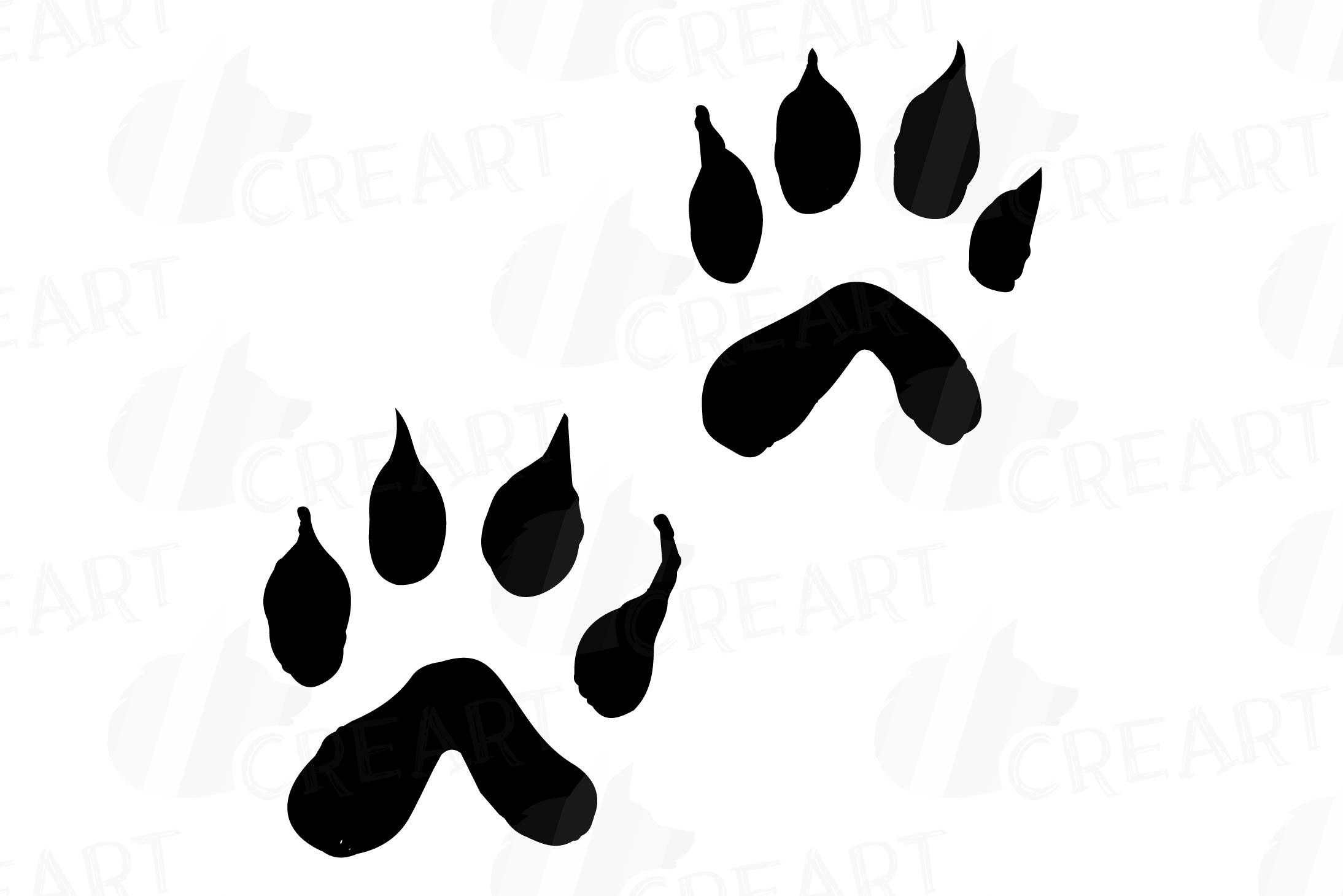 Woodland animal footprint clipart freeuse stock Animal Tracks, Woodland Animals footprints Clipart pack freeuse stock