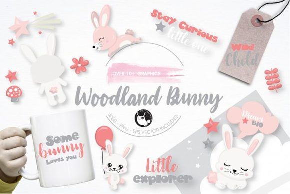 Woodland bunny clipart banner royalty free library Woodland Bunny Clipart Set banner royalty free library