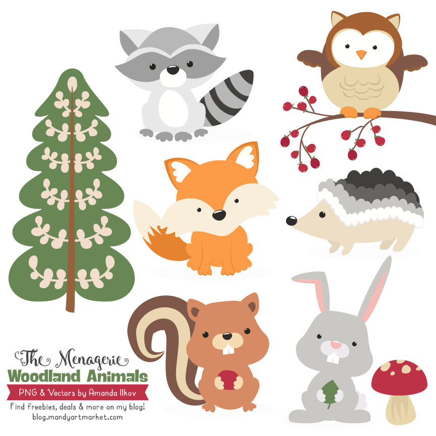 Woodland character clipart
