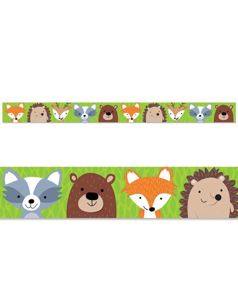 Woodland clipart border picture library Woodland Animals Straight Border picture library
