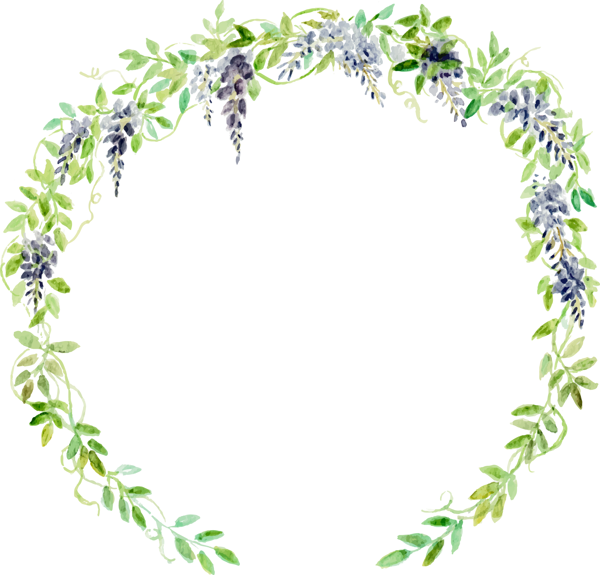 Woodland clipart border picture free library HD Wedding Invitation Watercolor Painting Wreath Flower ... picture free library