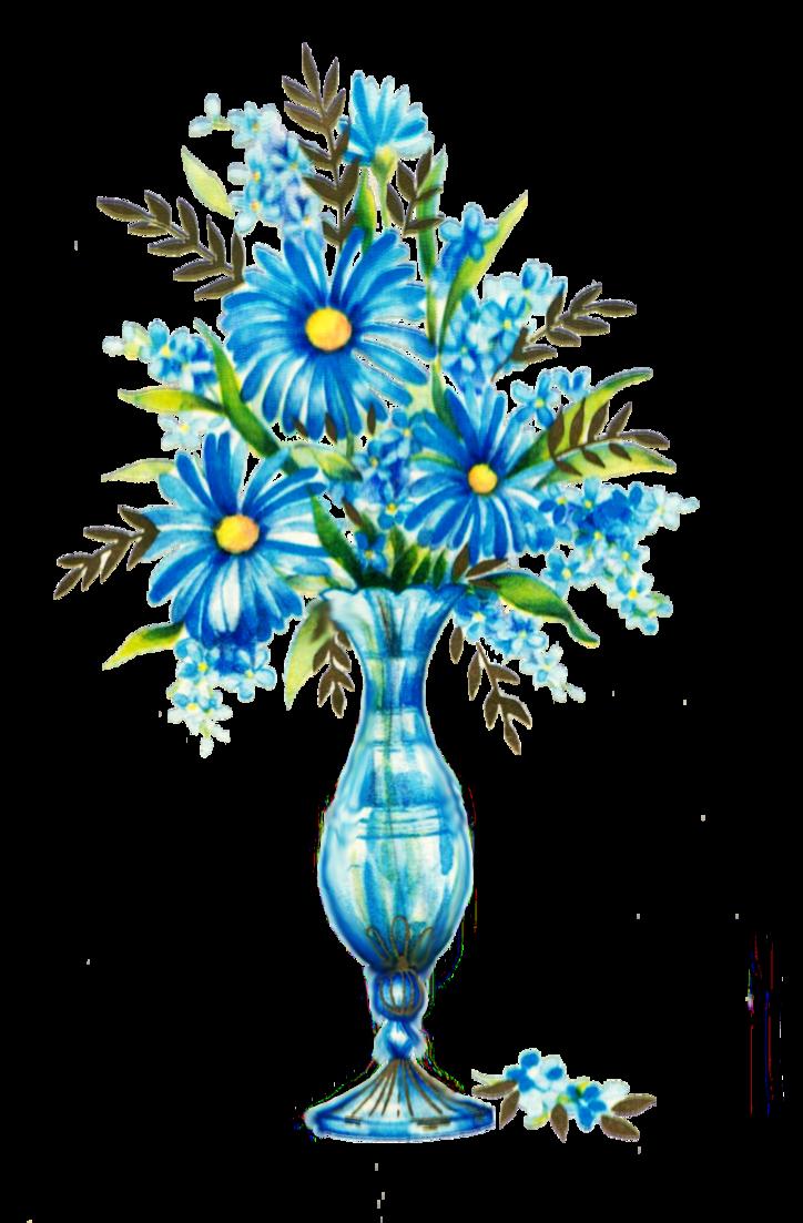 Woodland flower clipart svg transparent download Blue flowers by jinifur on DeviantArt svg transparent download