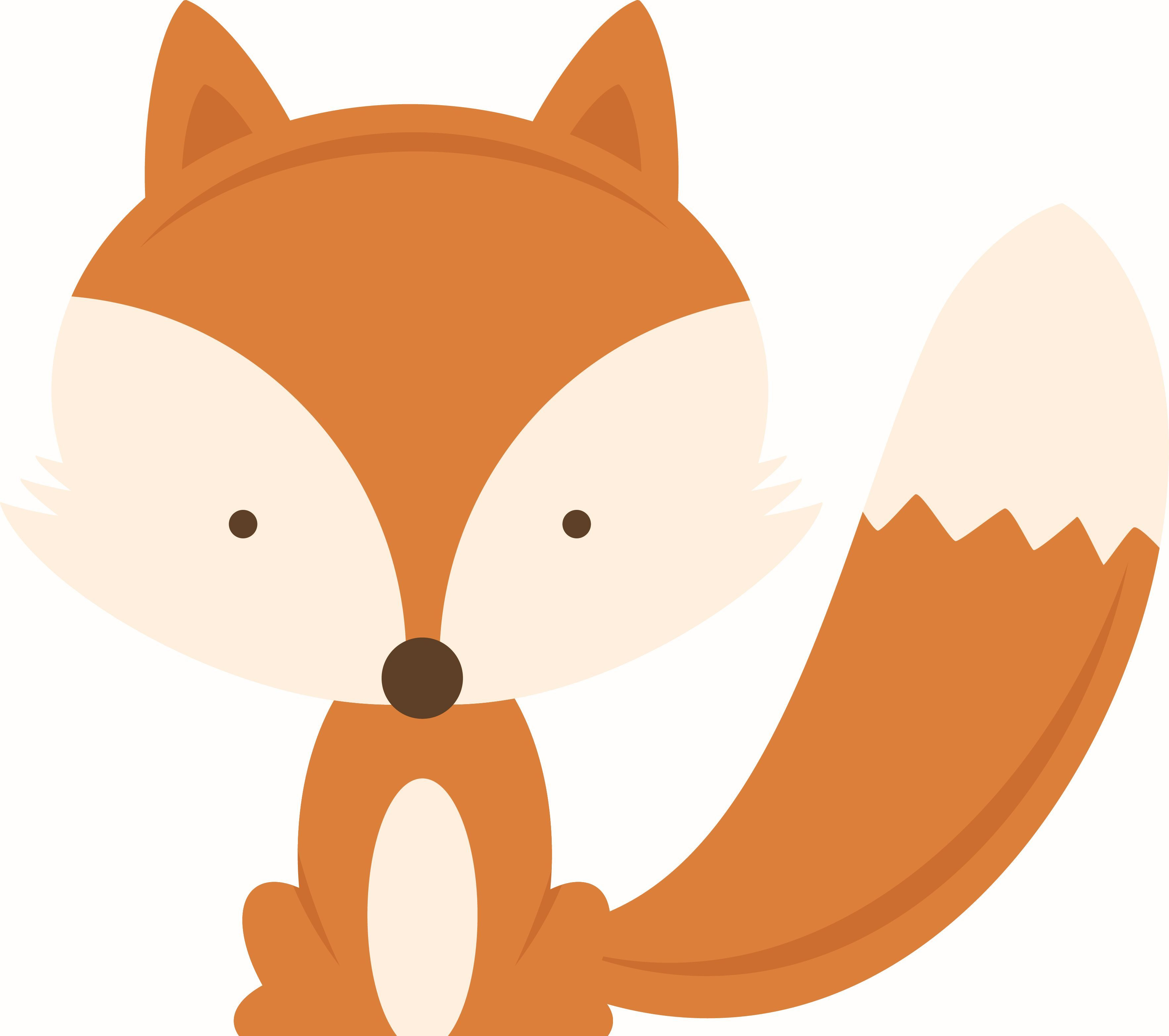 Woodland fox clipart free vector library library Pin by Jackie Davis on wooddland creatures | Baby cartoon ... vector library library