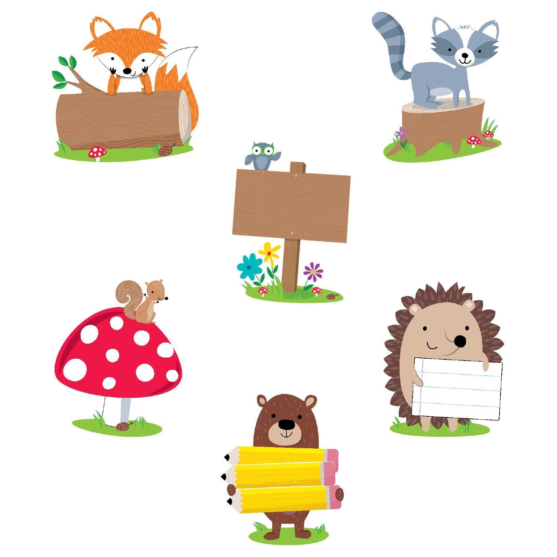 Woodland friends camping clipart jpg Woodland Friends Accent Cards | Woodland Friends | Woodland ... jpg