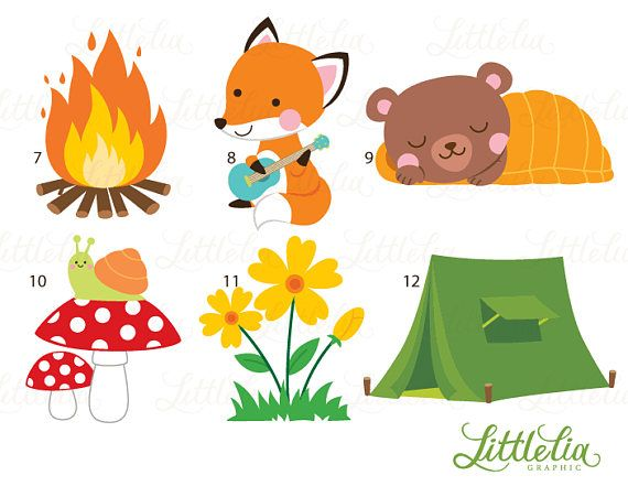 Woodland friends camping clipart clip art free library Woodland animal summer camp - camping forrest animal - 17026 ... clip art free library